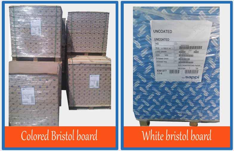 White & colored Bristol board3